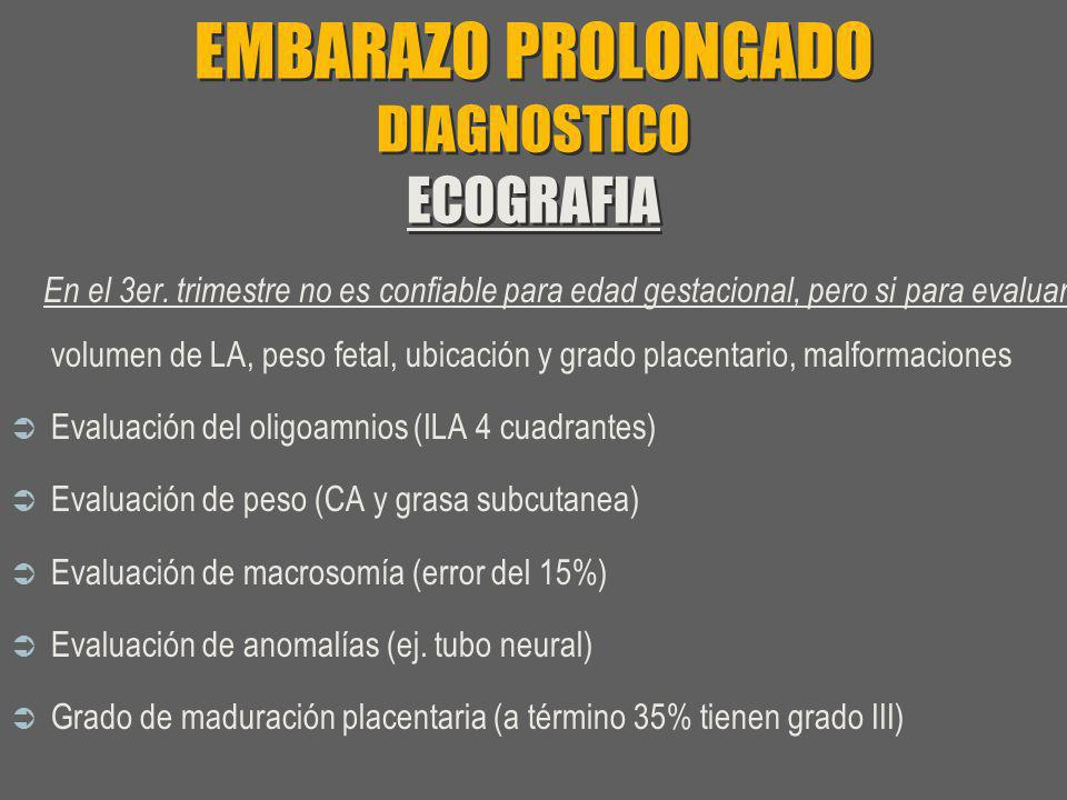 EMBARAZO PROLONGADO DIAGNOSTICO ECOGRAFIA