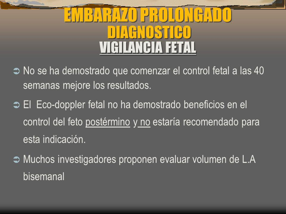 EMBARAZO PROLONGADO DIAGNOSTICO VIGILANCIA FETAL
