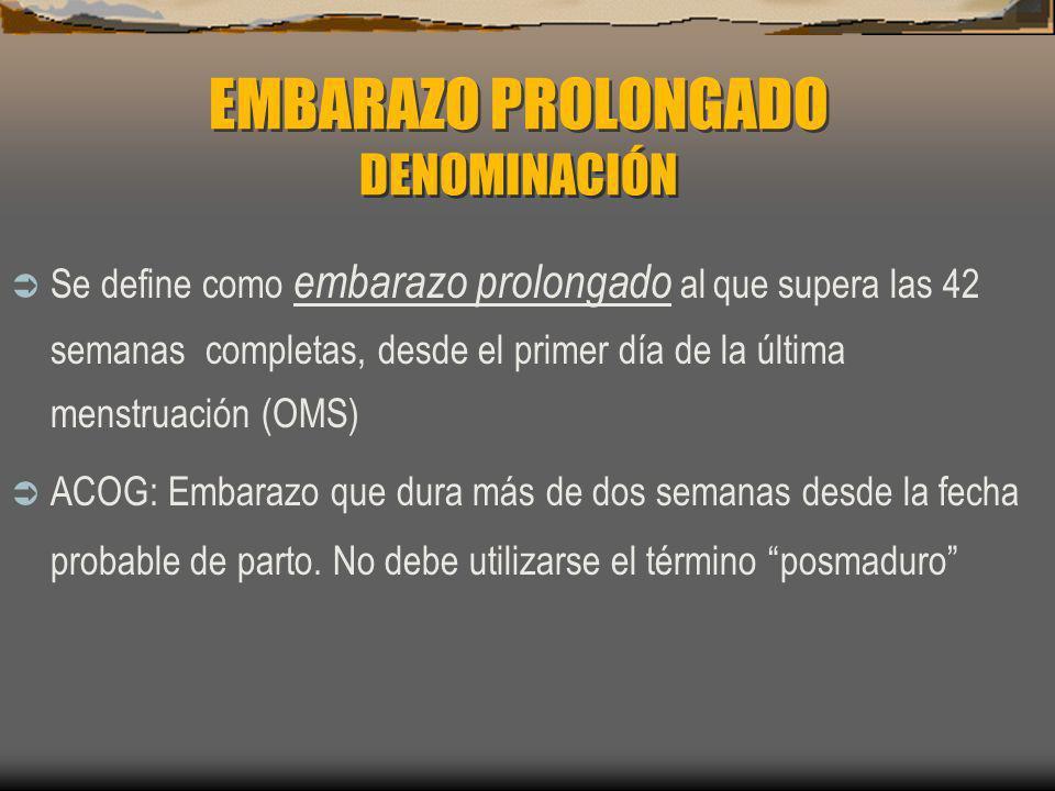 EMBARAZO PROLONGADO DENOMINACIÓN