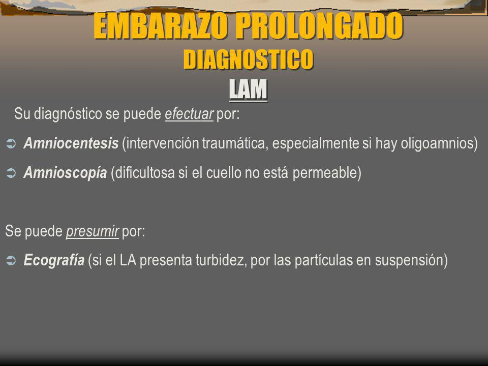 EMBARAZO PROLONGADO DIAGNOSTICO LAM