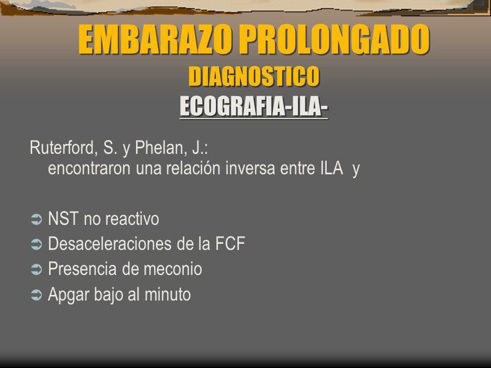 EMBARAZO PROLONGADO DIAGNOSTICO ECOGRAFIA-ILA-