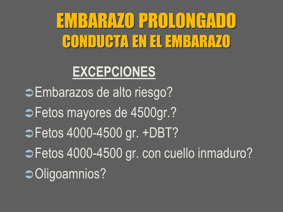 EMBARAZO PROLONGADO CONDUCTA EN EL EMBARAZO
