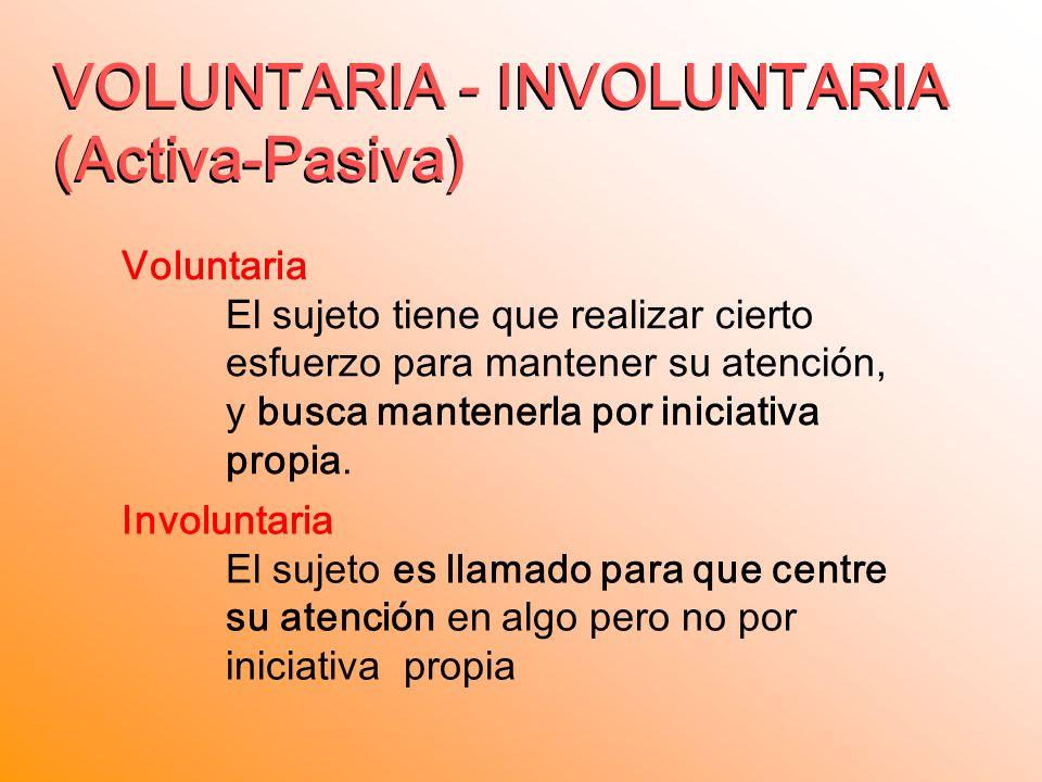 VOLUNTARIA - INVOLUNTARIA (Activa-Pasiva)