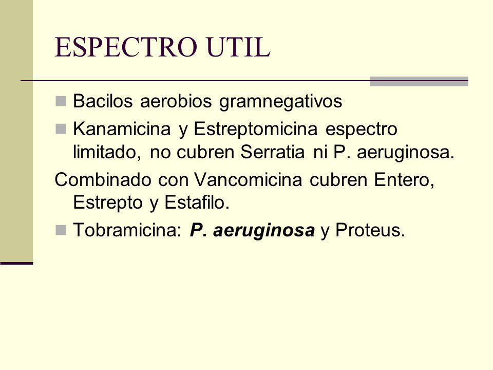 ESPECTRO UTIL Bacilos aerobios gramnegativos