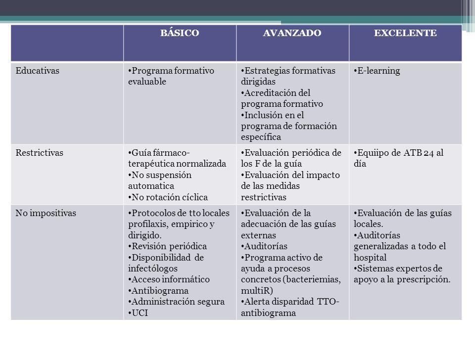 BÁSICO AVANZADO EXCELENTE
