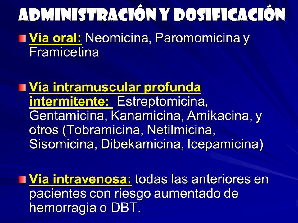 Administración y dosificación