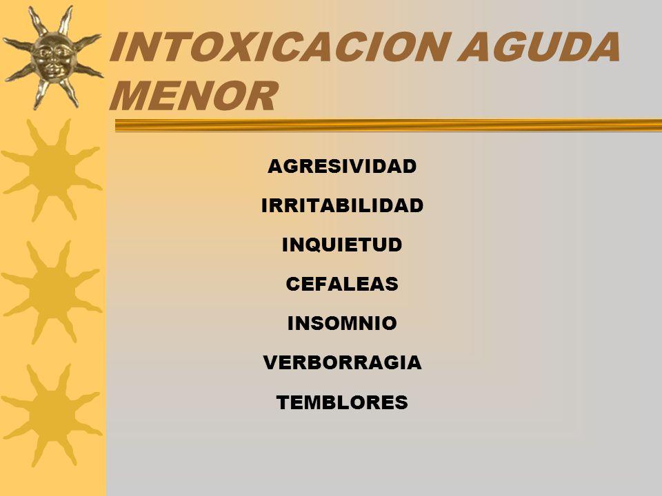 INTOXICACION AGUDA MENOR