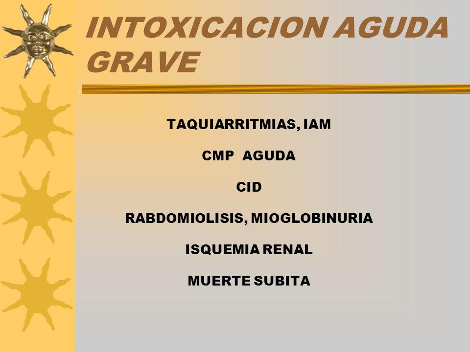 INTOXICACION AGUDA GRAVE