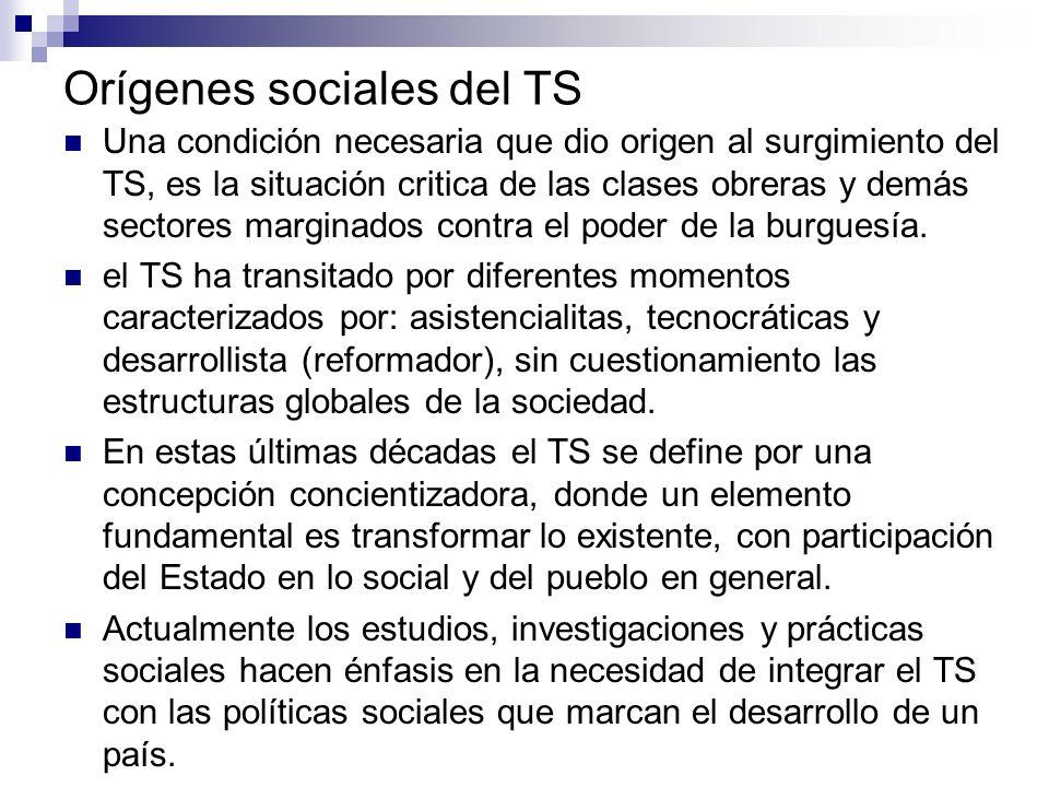Orígenes sociales del TS