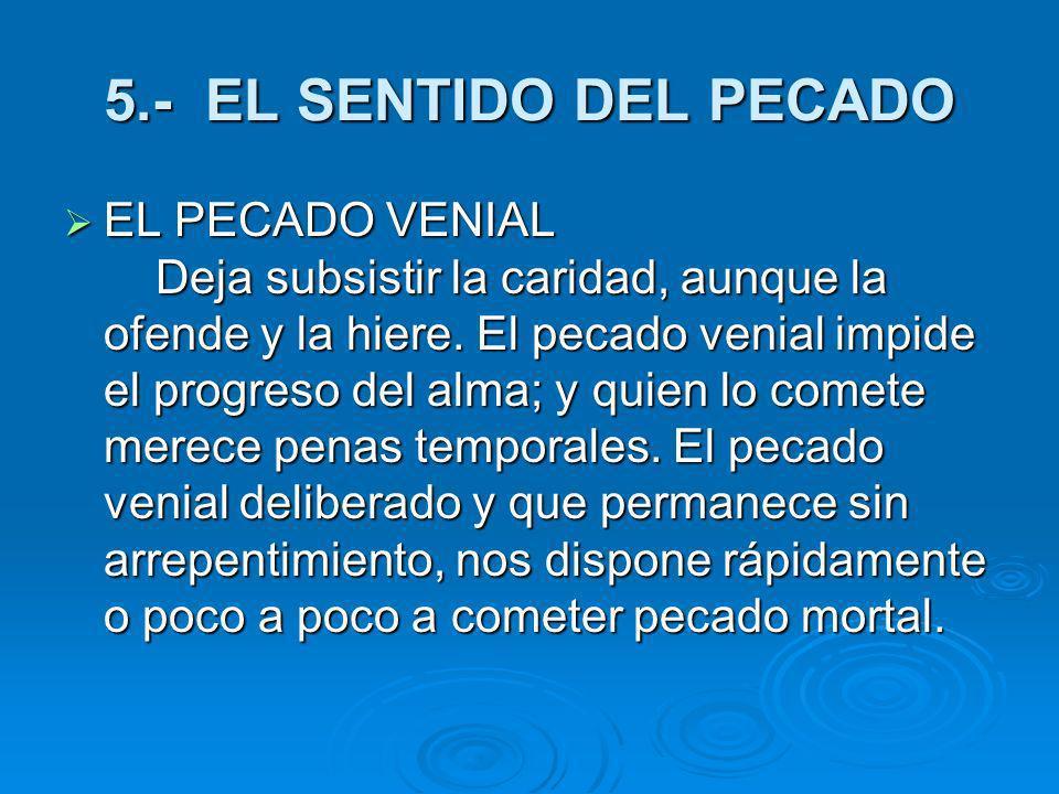 5.- EL SENTIDO DEL PECADO