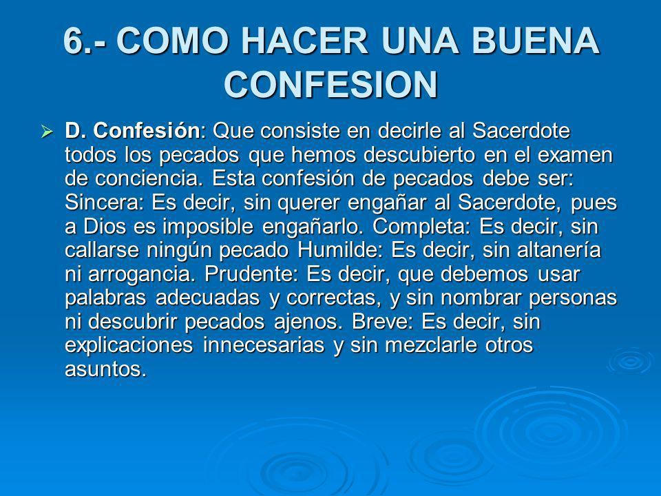 6.- COMO HACER UNA BUENA CONFESION