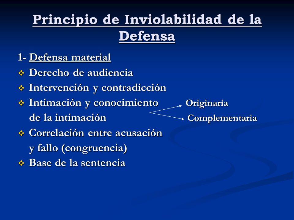 Principio de Inviolabilidad de la Defensa
