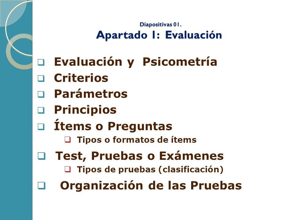 Diapositivas 01. Apartado 1: Evaluación
