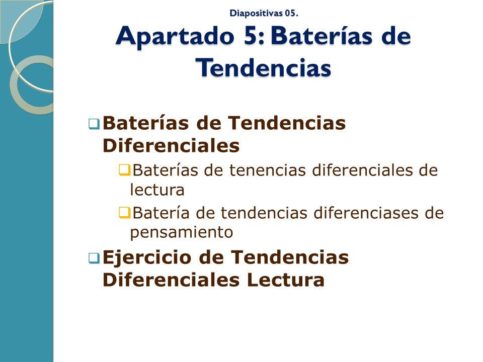 Diapositivas 05. Apartado 5: Baterías de Tendencias