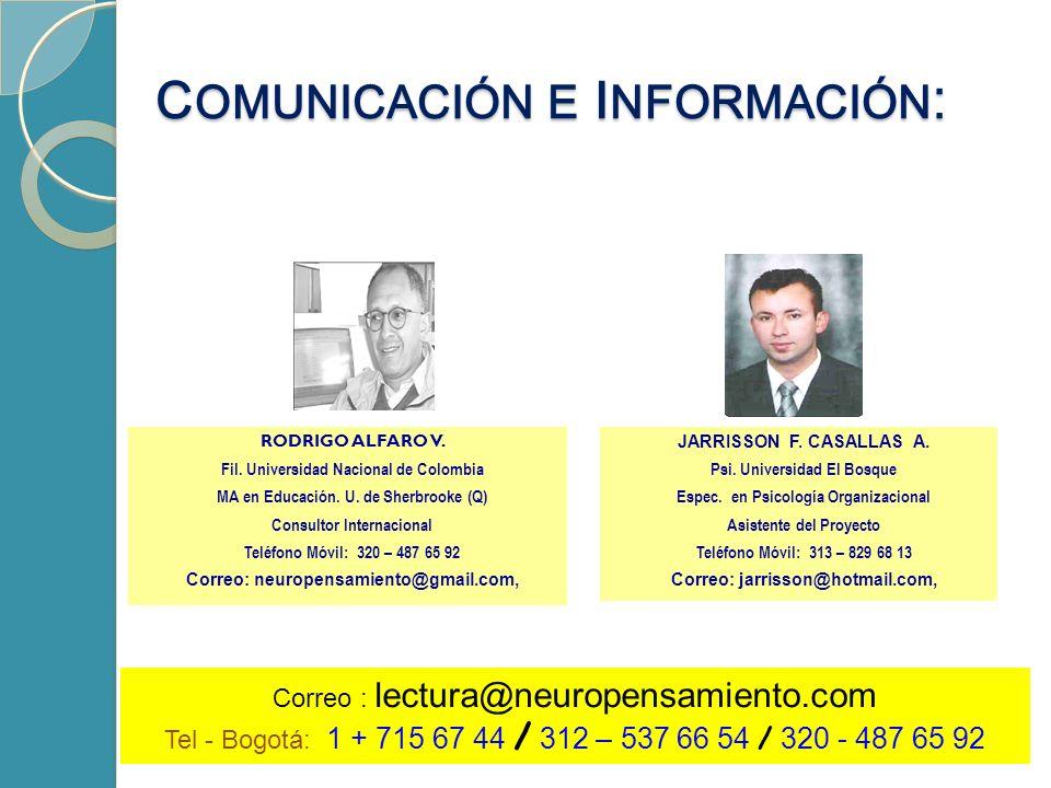 COMUNICACIÓN E INFORMACIÓN: