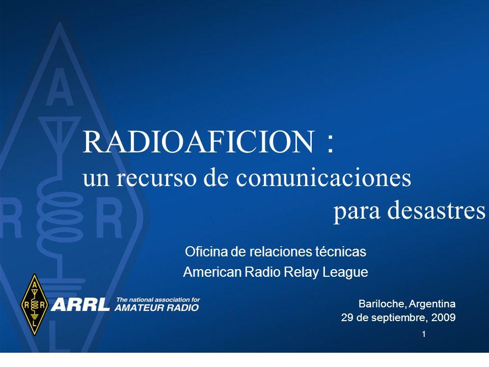 RADIOAFICION : un recurso de comunicaciones para desastres