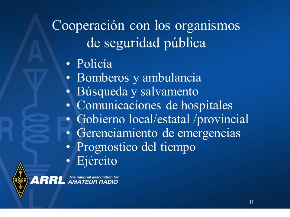 Cooperación con los organismos de seguridad pública