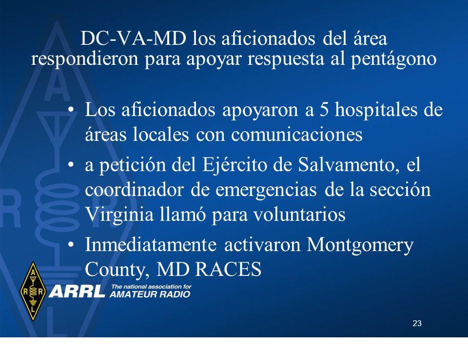 DC-VA-MD los aficionados del área respondieron para apoyar respuesta al pentágono