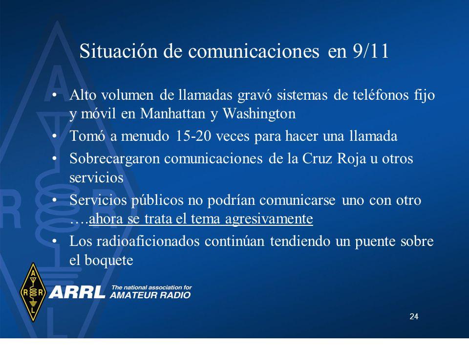 Situación de comunicaciones en 9/11