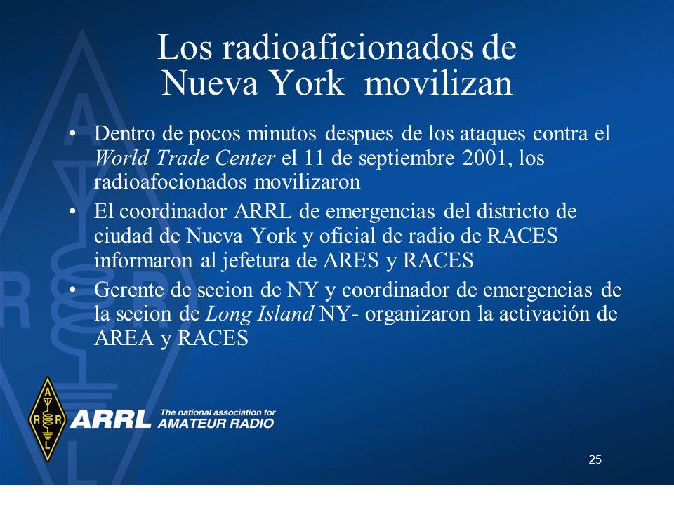Los radioaficionados de Nueva York movilizan