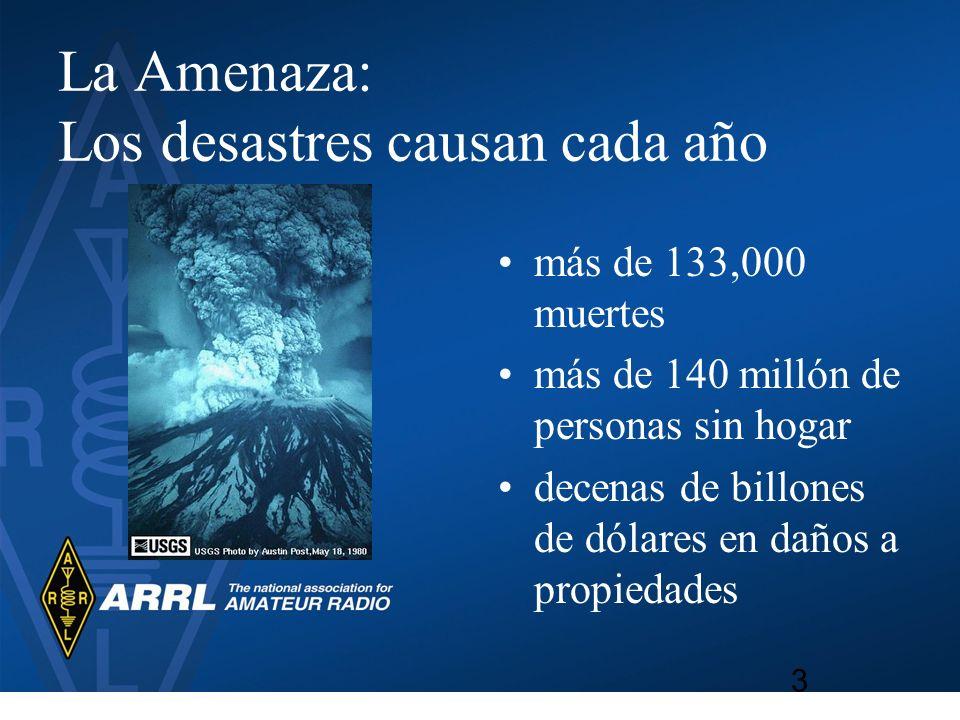 La Amenaza: Los desastres causan cada año