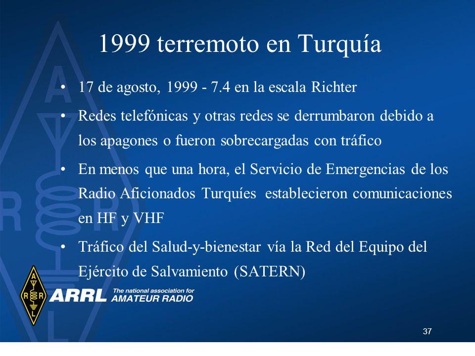 1999 terremoto en Turquía 17 de agosto, 1999 - 7.4 en la escala Richter.