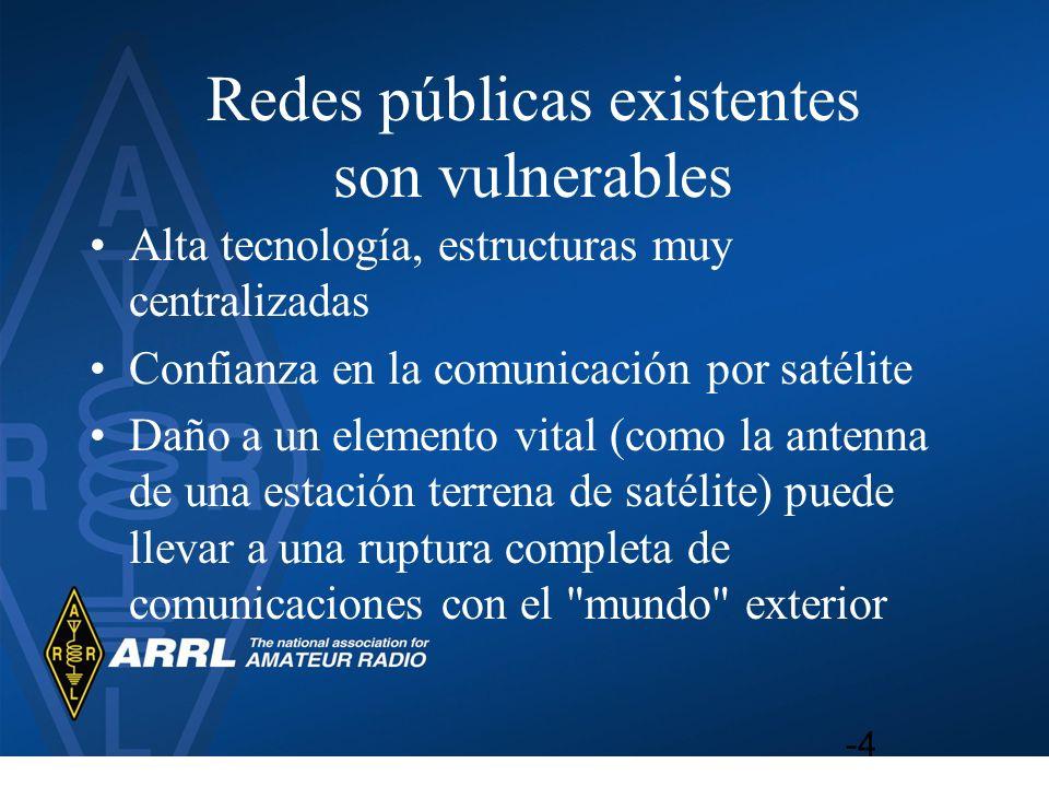 Redes públicas existentes son vulnerables