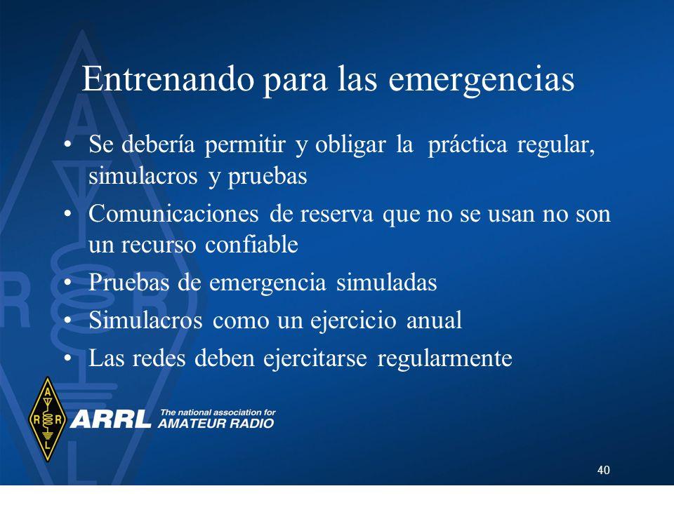Entrenando para las emergencias