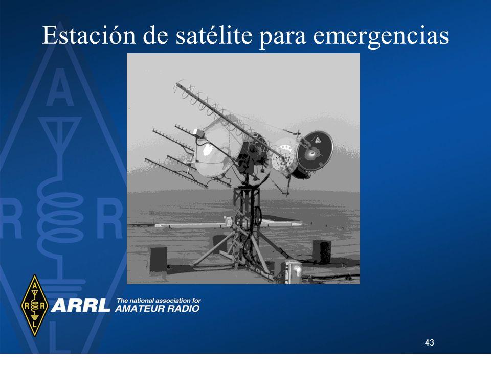 Estación de satélite para emergencias