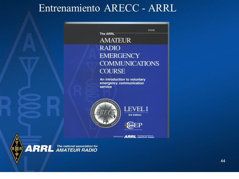 Entrenamiento ARECC - ARRL