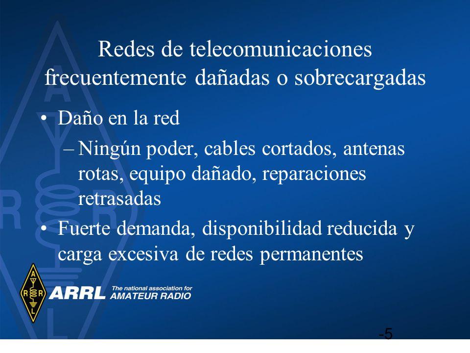 Redes de telecomunicaciones frecuentemente dañadas o sobrecargadas