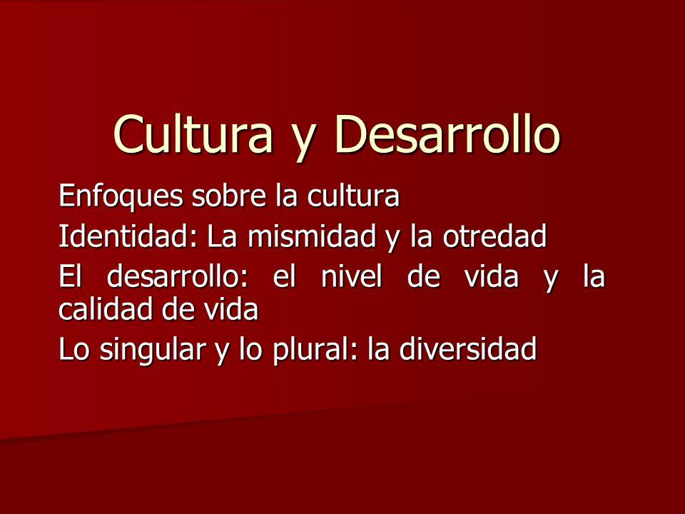 Cultura y Desarrollo Enfoques sobre la cultura