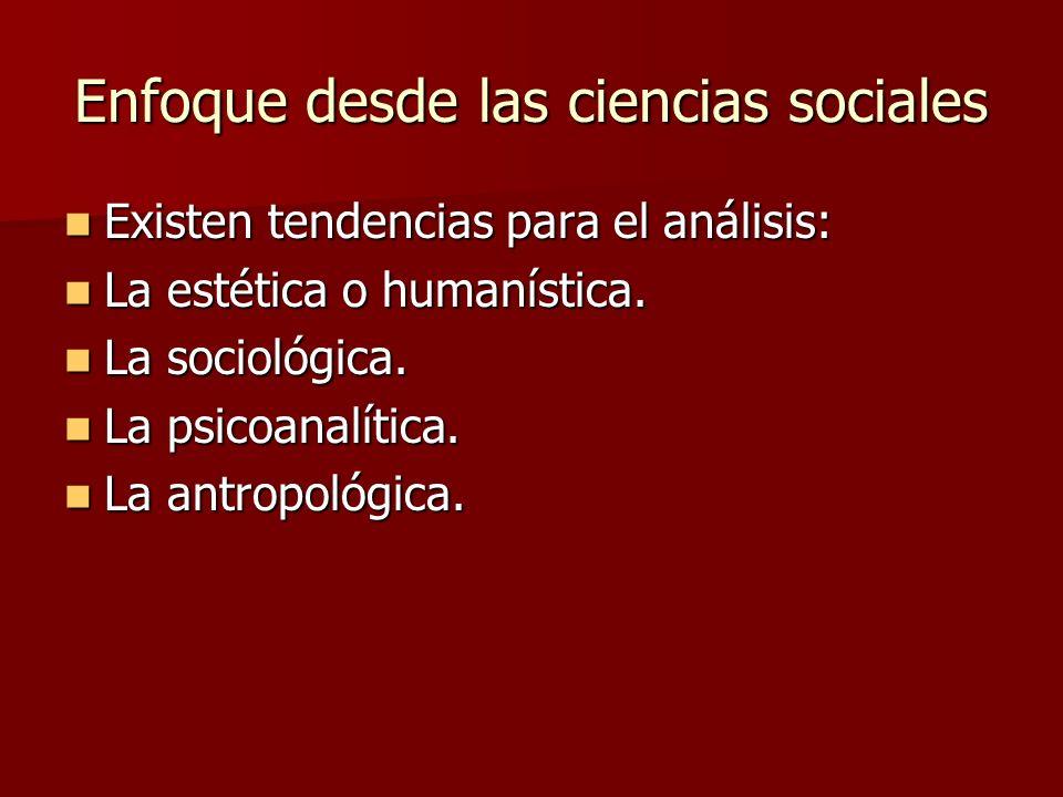 Enfoque desde las ciencias sociales
