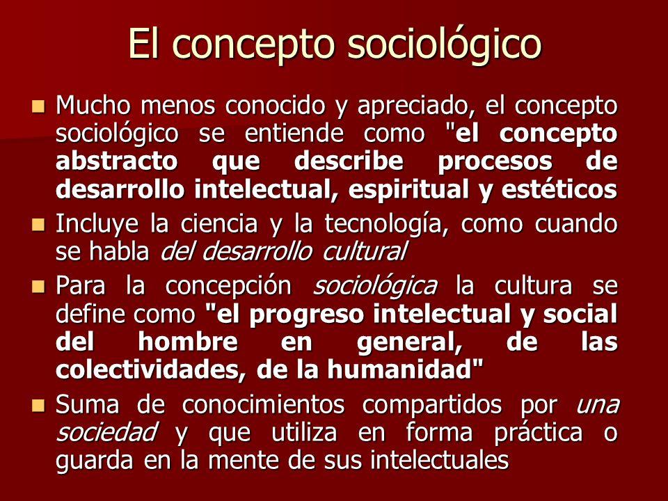 El concepto sociológico