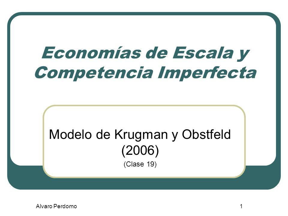 Economías de Escala y Competencia Imperfecta