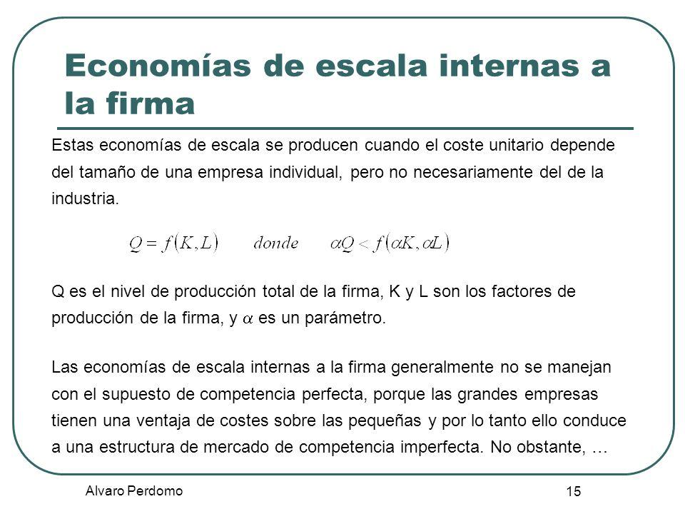 Economías de escala internas a la firma
