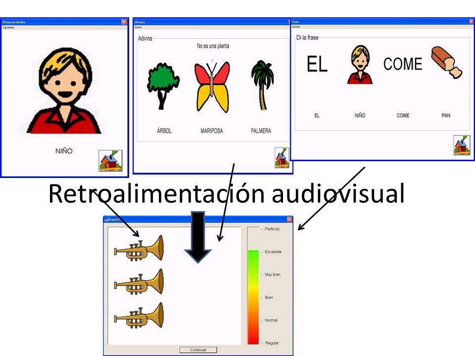 Retroalimentación audiovisual