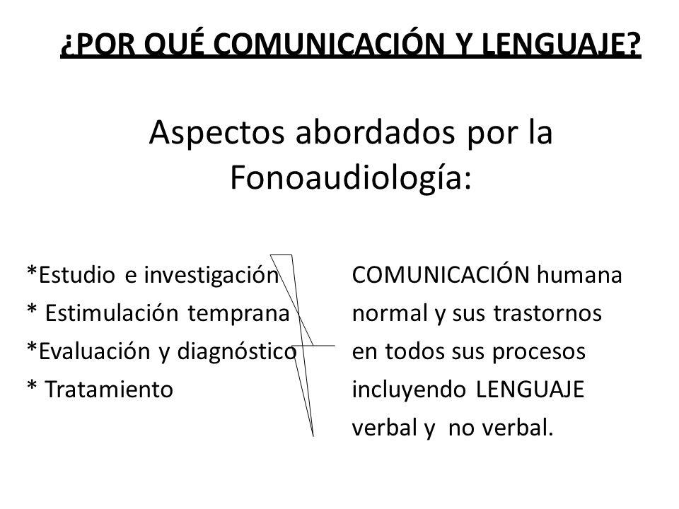 ¿Por qué comunicación y lenguaje