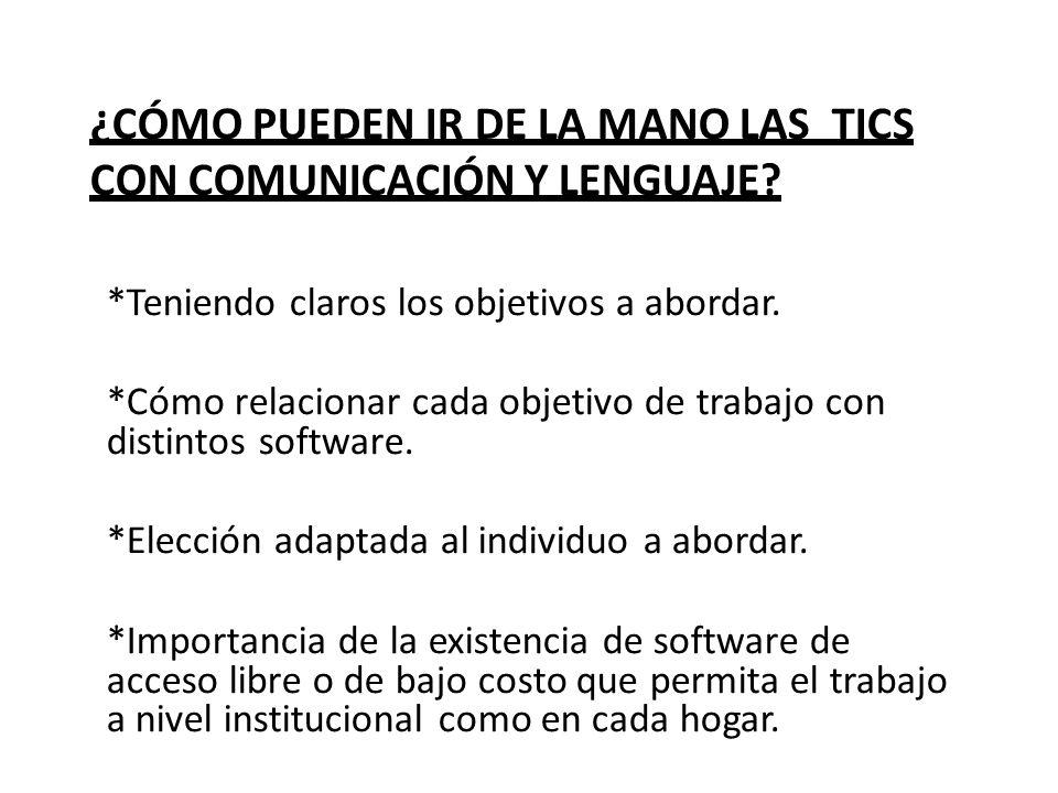 ¿Cómo pueden ir de la mano lAS TICS con comunicación y lenguaje