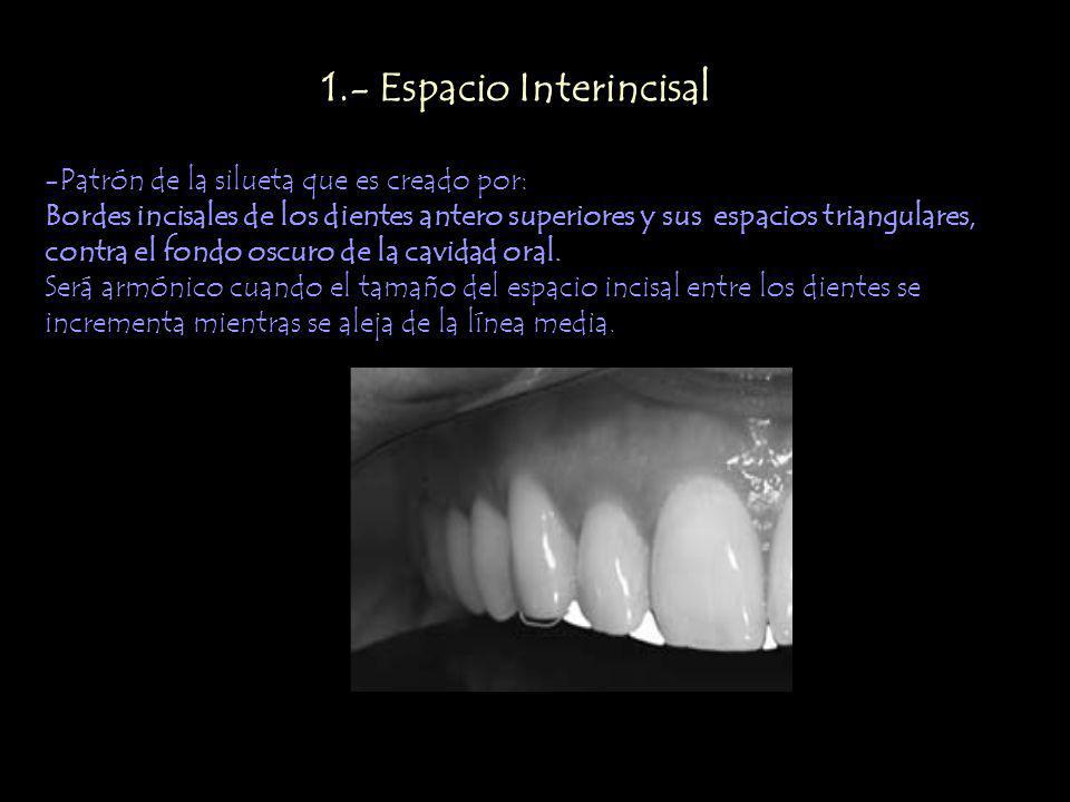 1.- Espacio Interincisal