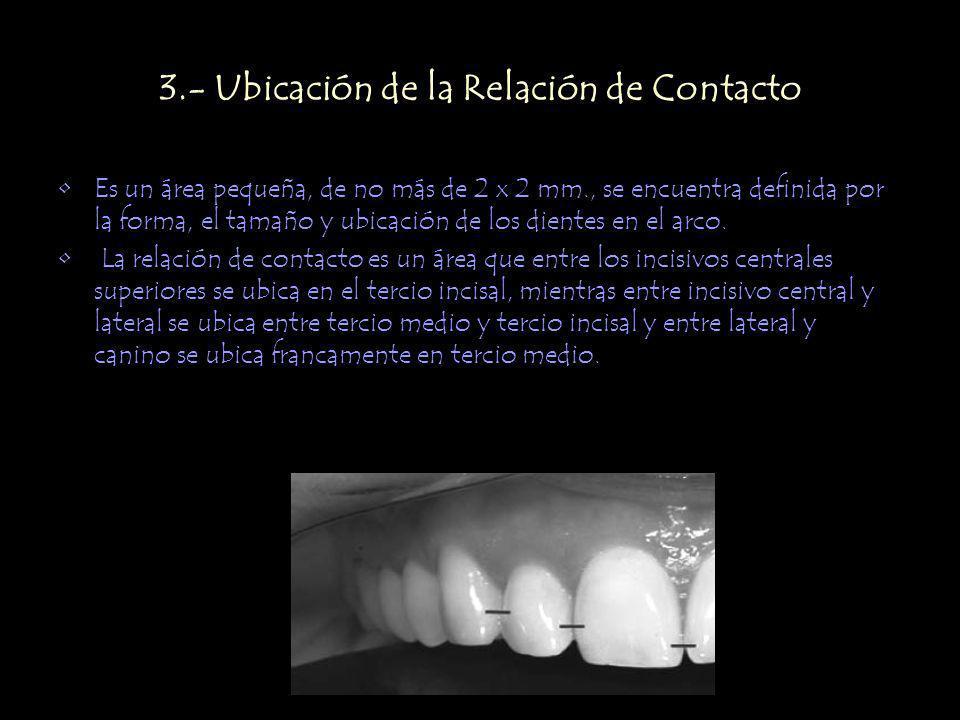 3.- Ubicación de la Relación de Contacto