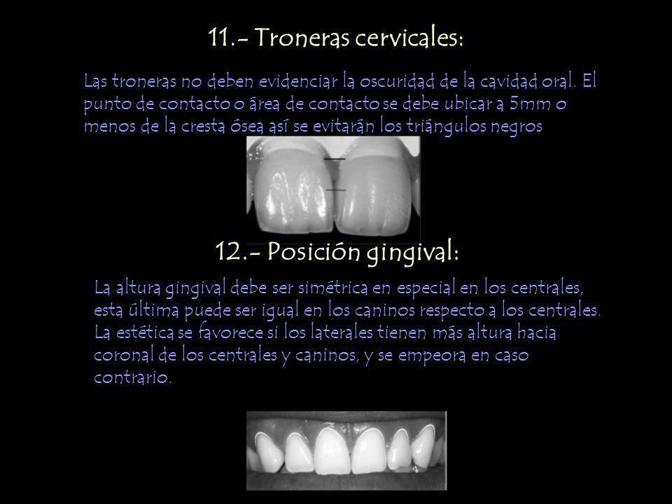 11.- Troneras cervicales:
