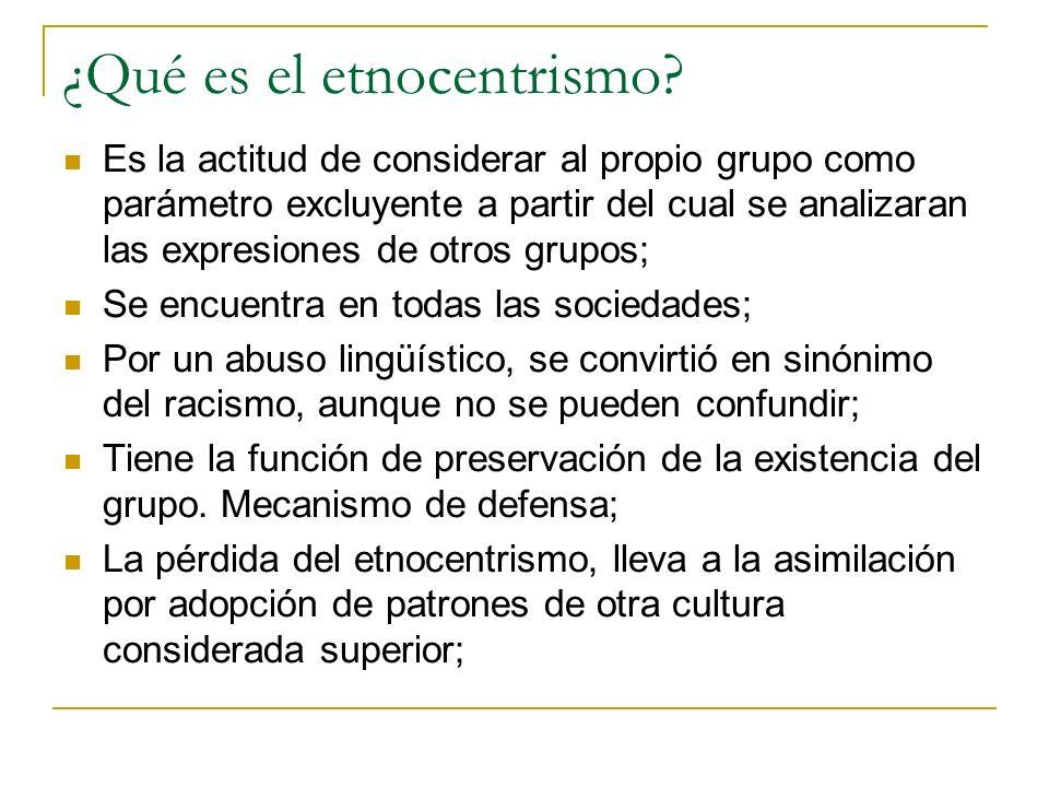 ¿Qué es el etnocentrismo