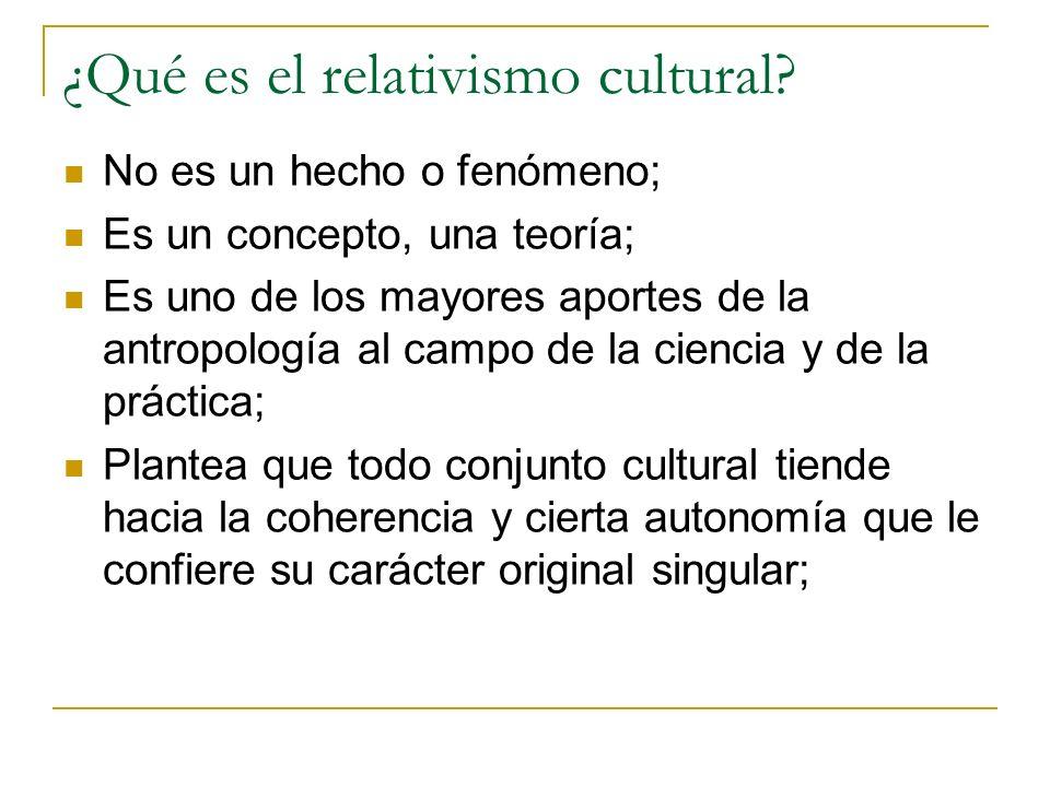 ¿Qué es el relativismo cultural