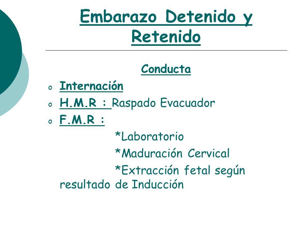 Embarazo Detenido y Retenido