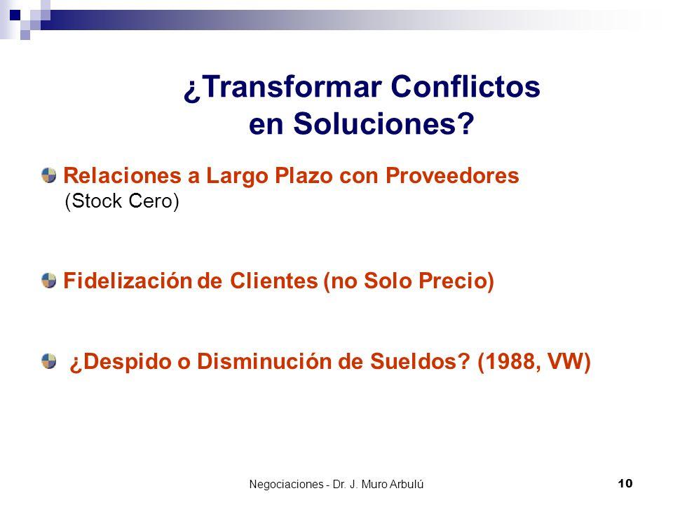 ¿Transformar Conflictos en Soluciones