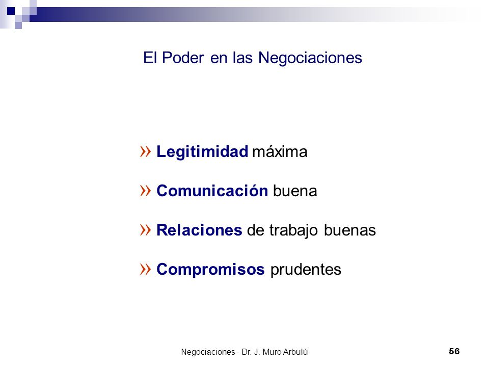 El Poder en las Negociaciones