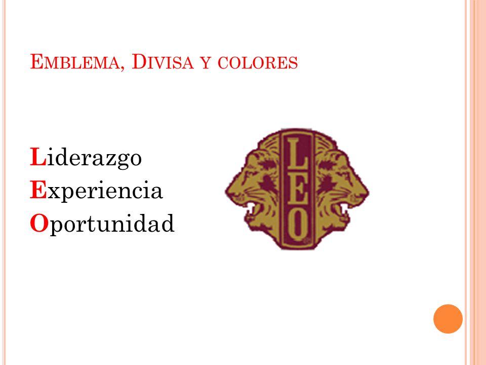 Emblema, Divisa y colores