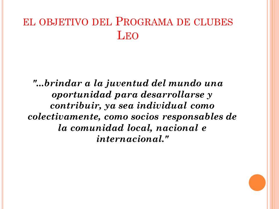 el objetivo del Programa de clubes Leo