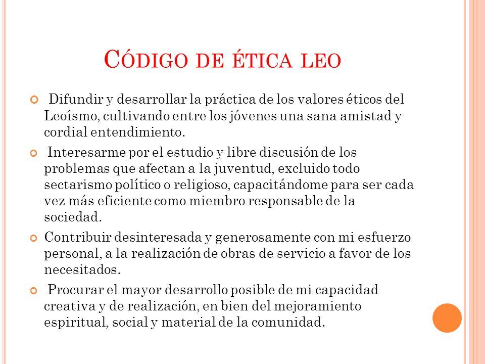 Código de ética leo